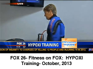 FOX 26- Fitness on FOX:  HYPOXI Training- October, 2013