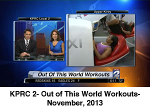 KPRC 2- Out of This World Workouts- November, 2013