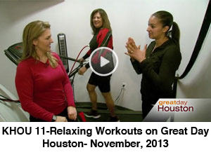 KHOU 11-Relaxing Workouts on Great Day- November, 2013