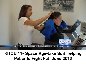 KHOU 11- Space Age-Like Suit Helping Patients Fight Fat- June 2013